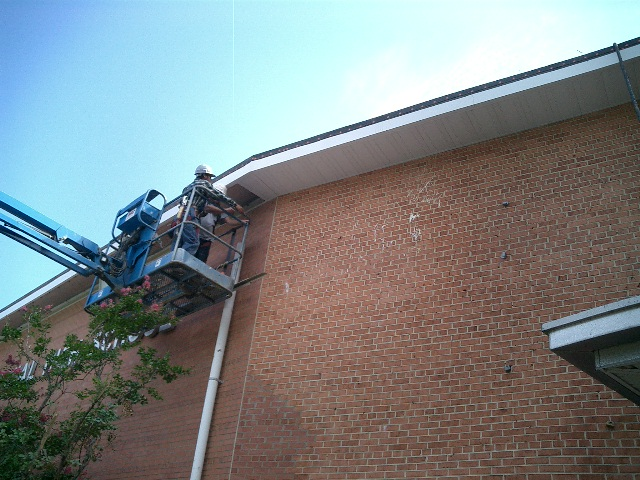 First Colonial High School Gutter Installation by J.D. Miles & Sons